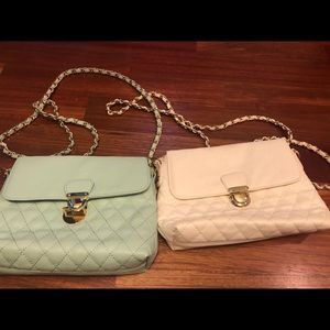 Two Forever 21 quilted chain strap purses